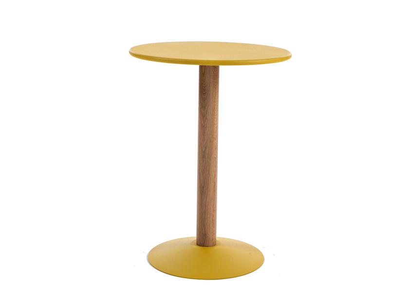 Round high side table C16   Coffee table by Tolix