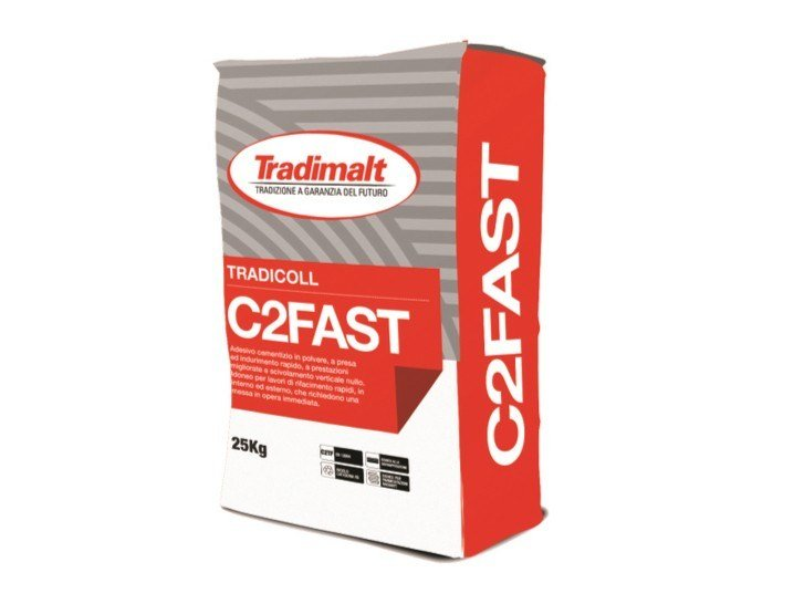 Cement adhesive for flooring C2 FAST by TRADIMALT