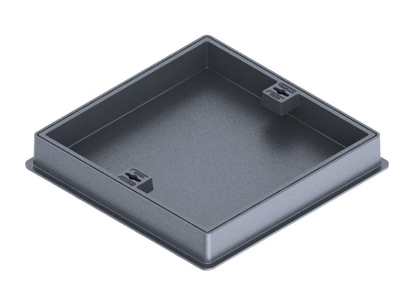 Manhole cover for plumbing and drainage system C250 RECESSED MANHOLE COVER WITH FRAME by LINK industries