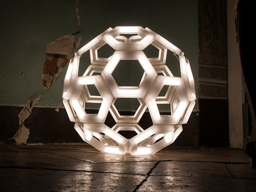 LED PMMA floor lamp C60   Floor lamp by Kriladesign