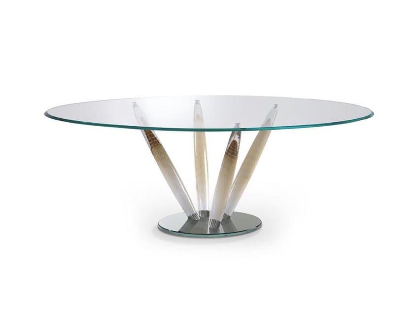 Tavolo da pranzo rotondo in vetro CA' D'ORO | Tavolo by Reflex