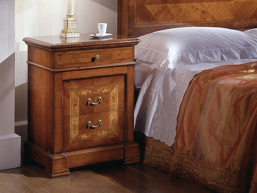 Rectangular cherry wood bedside table with drawers CA' DOLFIN | Bedside table by MOLETTA