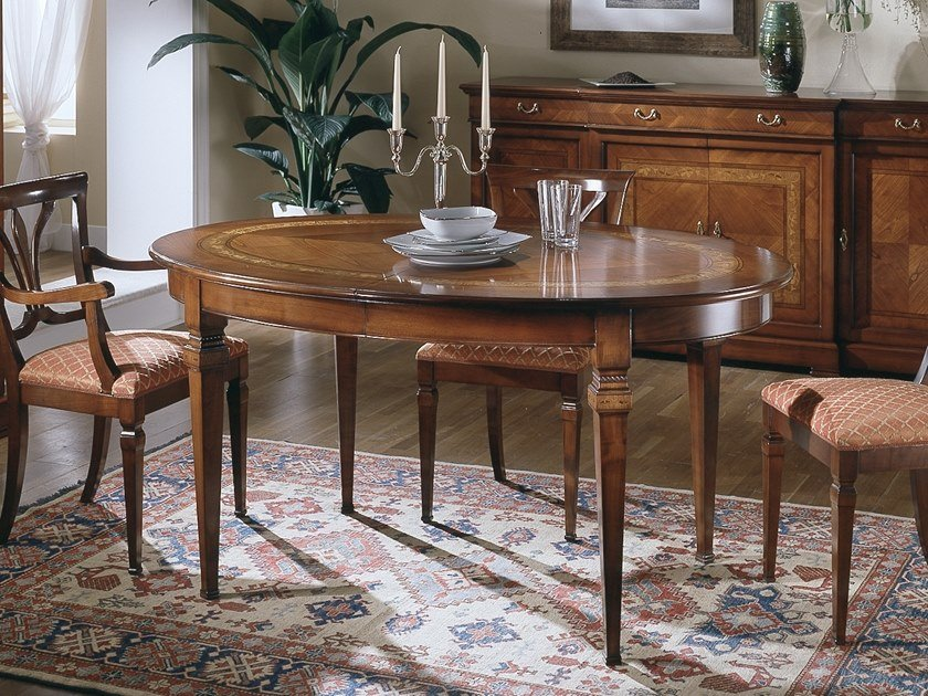 Extending oval dining table CA' DOLFIN | Oval table by MOLETTA