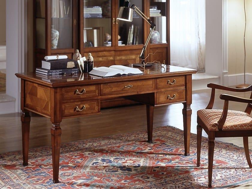 Cherry wood secretary desk with drawers CA' DOLFIN | Secretary desk by MOLETTA