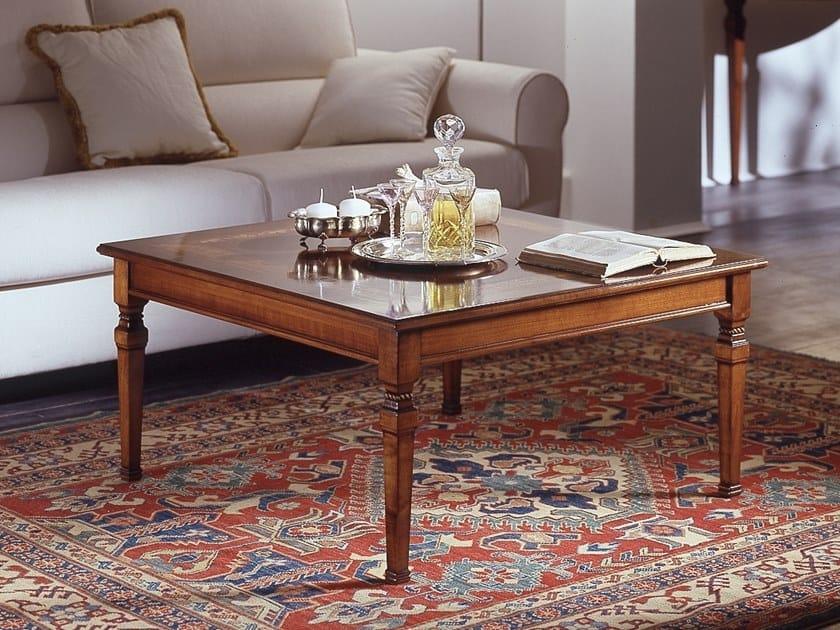 Square Cherry Wood Coffee Table Ca Dolfin By Moletta