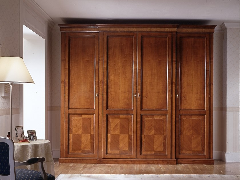 Cherry wood wardrobe CA' DOLFIN | Wardrobe by MOLETTA