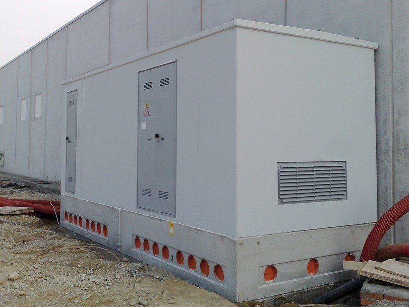 Substation cabin Monoblock electrical substation by Betoncablo