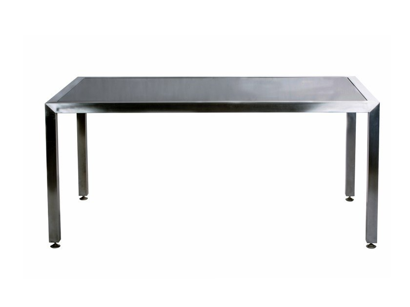 Rectangular stainless steel dining table CABO | Rectangular table by 7OCEANS DESIGNS