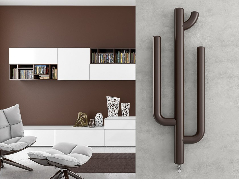 Vertical wall-mounted steel decorative radiator CACTUS by XÒ by Metalform