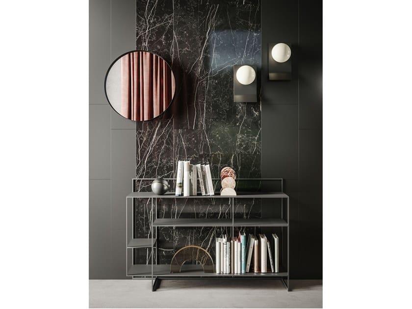 Boiserie in ceramica, legno, specchio e metallo CADDY MATERIKA by Ronda Design