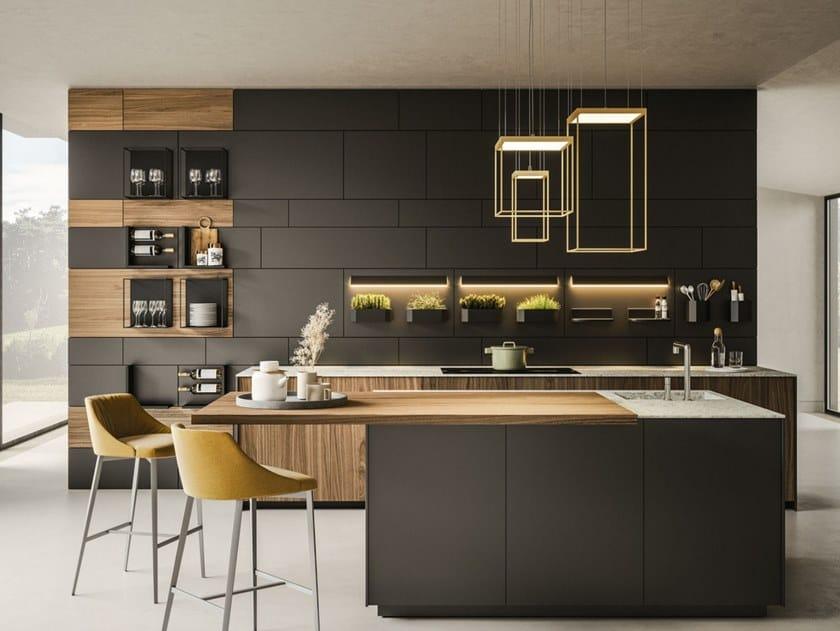 Boiserie in metallo con illuminazione integrata CADDY POST by Ronda Design
