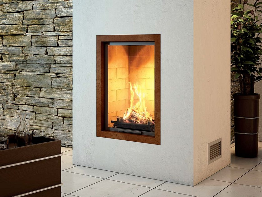 Steel Fireplace Mantel CADRE DESI by Axis