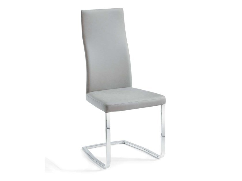 Cantilever upholstered high-back chair CAERANO | High-back chair by Trevisan Asolo