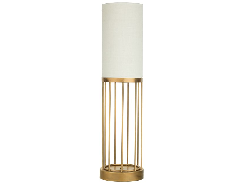 LED brass table lamp CAGE 03 by Il Bronzetto