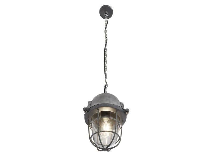 Iron pendant lamp VINTAGE INDUSTRIAL HEAVY CAST BULKHEAD by Industville