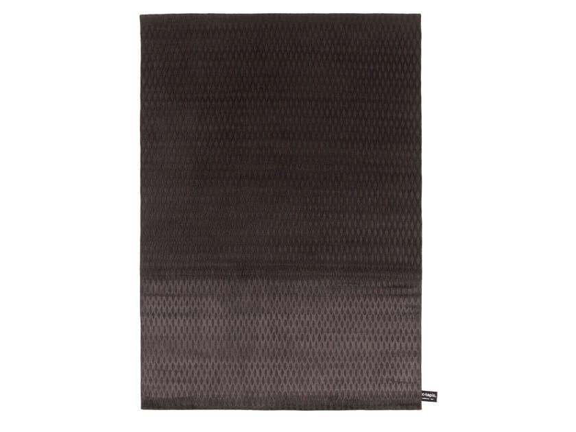 Handmade custom rug CAGE CHARCOAL by cc-tapis