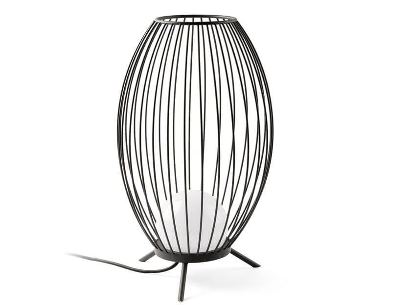 LED Dark grey portable lamp CAGE LED by Faro Barcelona
