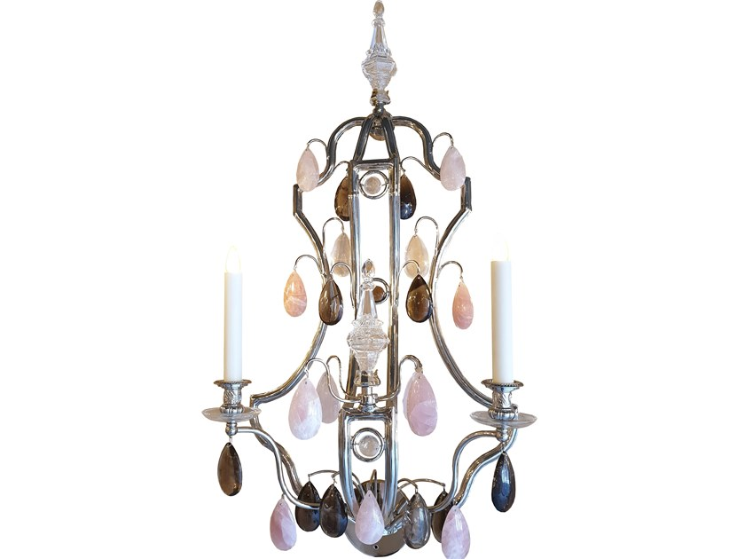 Classic style bronze wall lamp CAGE by OMBRES ET FACETTES
