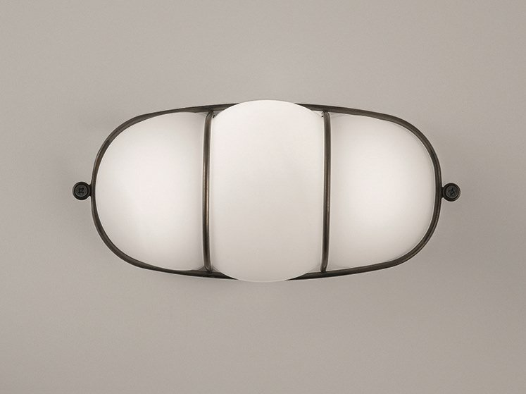 Applique a LED in vetro soffiato CAGE | Applique by Siru