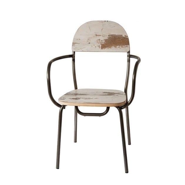 Sedia in legno con braccioli CAIPIROSKA by Vela Arredamenti