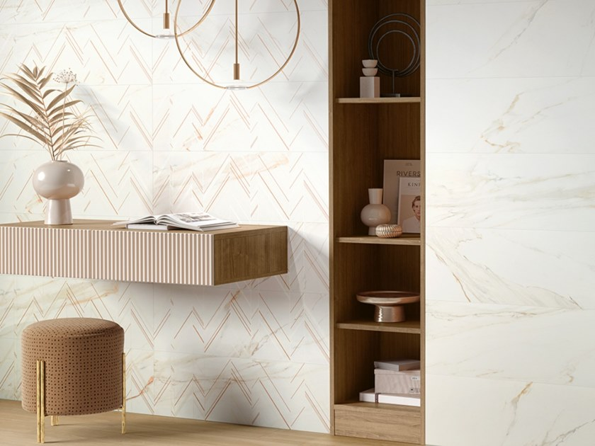 Indoor ceramic wall tiles CALACATTA ORO by Revigrés