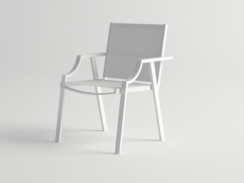 Aluminium garden chair with armrests CALDERA | Garden chair by 10Deka