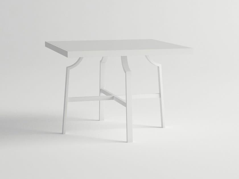 Square aluminium garden table CALDERA | Square table by 10Deka