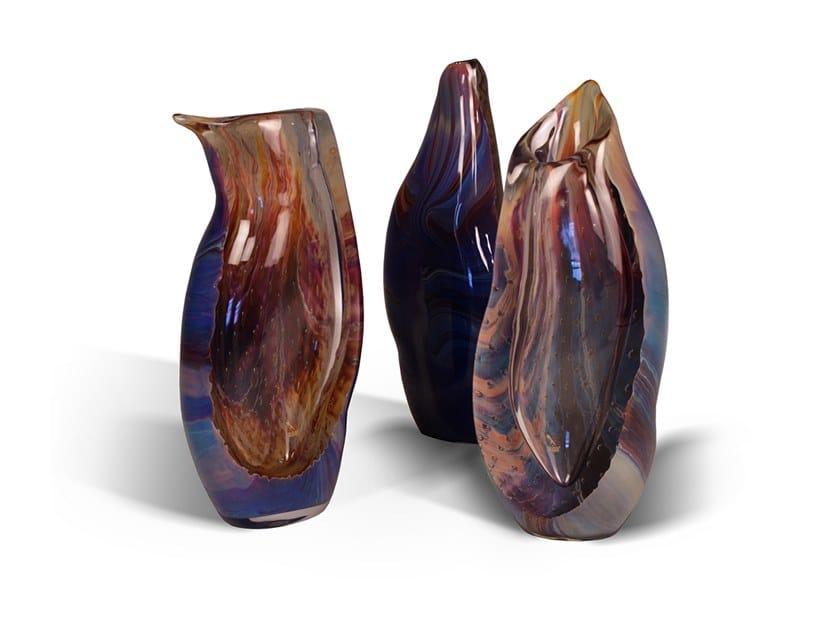 Vaso in vetro di Murano CALCEDONIO by Reflex