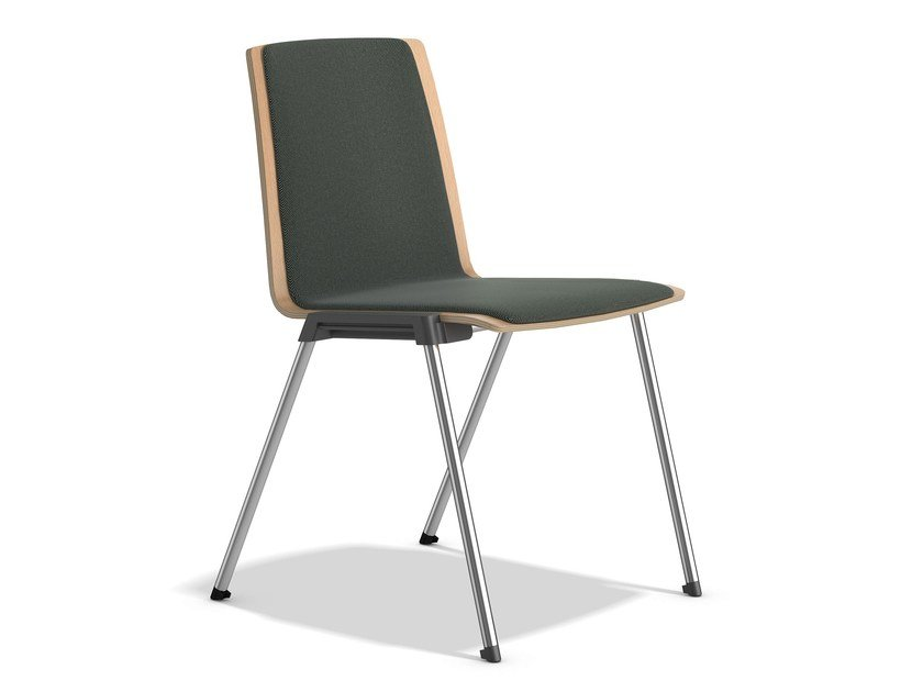 Stackable chair with linking device CALIBER 2892/00 by Casala