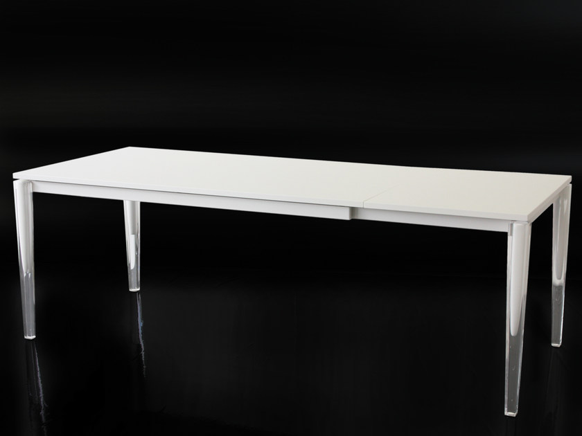 Extending rectangular MDF table CALIPPO | Extending table by Magis