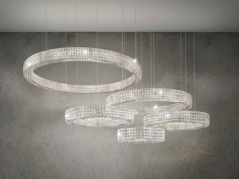 Crystal pendant lamp CALIPSO by Marchetti