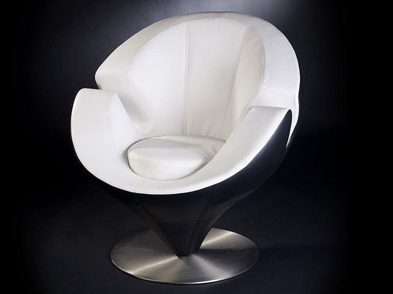 Leather armchair with armrests CALLA by VGnewtrend