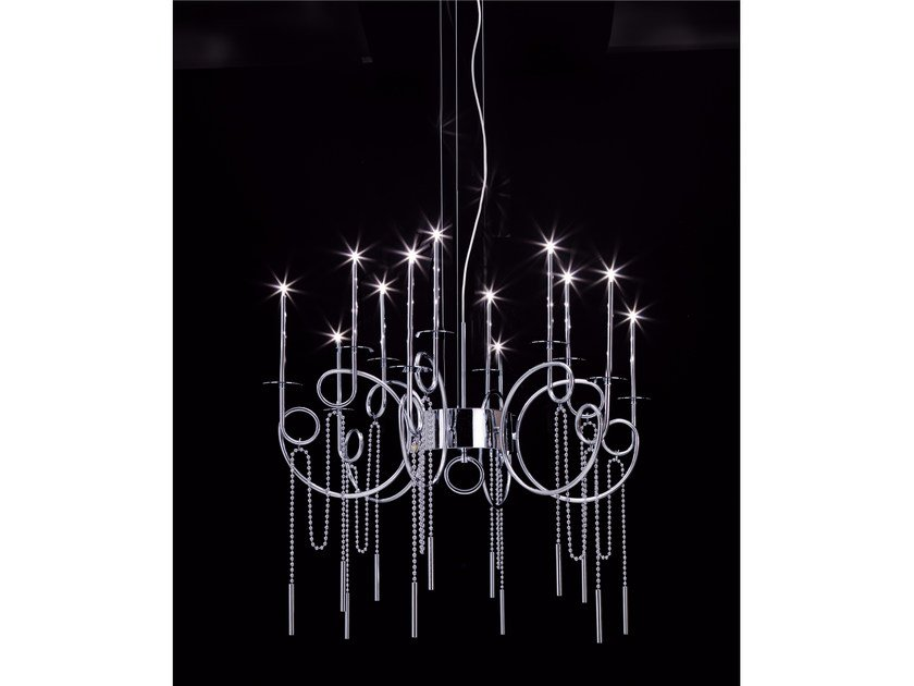 LED steel pendant lamp CALLIGRAFICO NITY 12C | LED pendant lamp by SP Light and Design