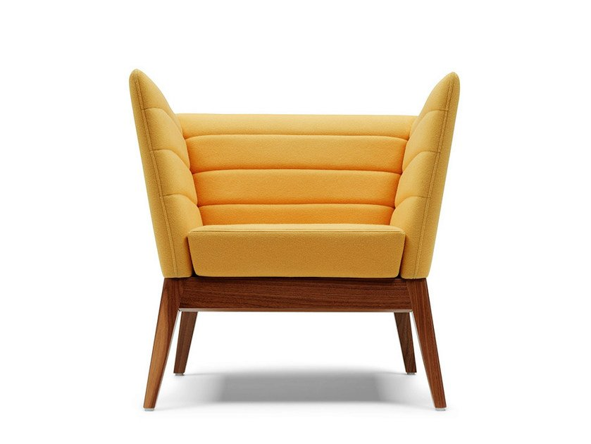 Upholstered easy chair with armrests CALLISTO | Easy chair by Boss Design