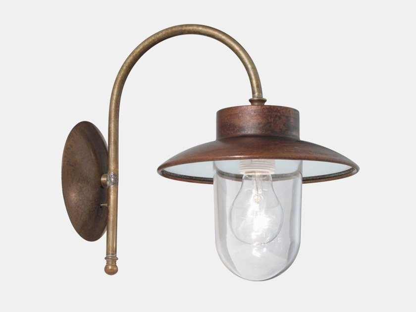 Direct light metal outdoor wall lamp CALMAGGIORE 230.03.ORT by Il Fanale