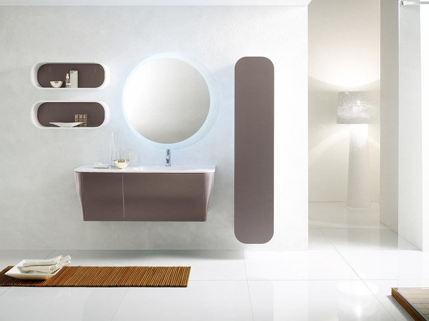 Wall-mounted vanity unit with mirror CALYPSO 17 by BMT