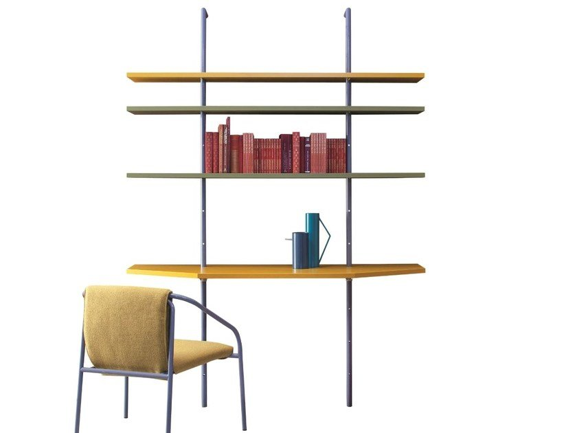 Metal Writing Desk With Bookcase Pigeon Holes By Tolix Design Xavier Pauchard