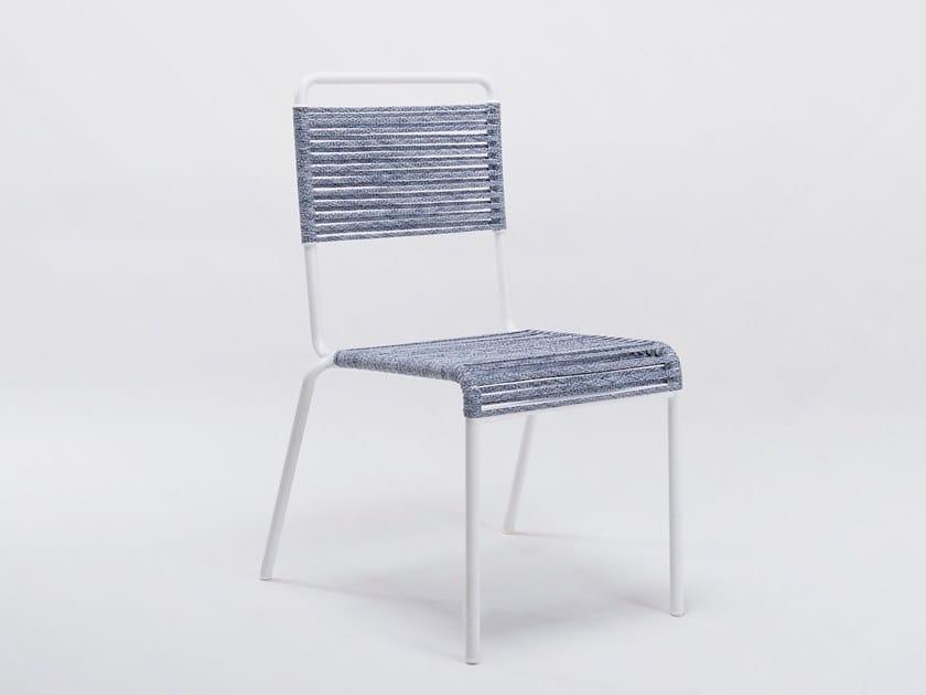 Sedia impilabile in ferro e corda sintetica CAMARGUE   Sedia by Unopiù