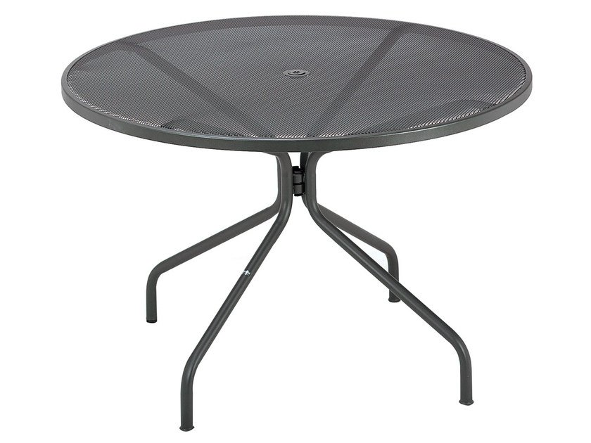 Round steel garden table CAMBI | Round table by emu