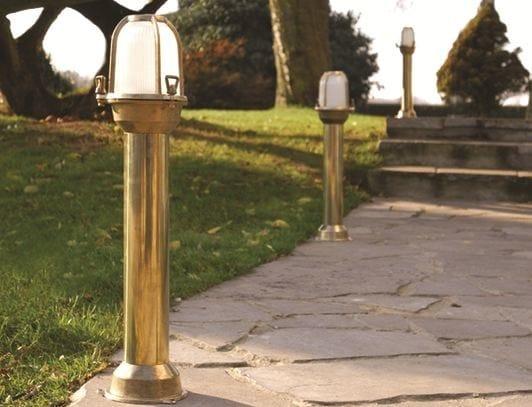 Brass bollard light CAMBRIDGE FL by BEL-LIGHTING