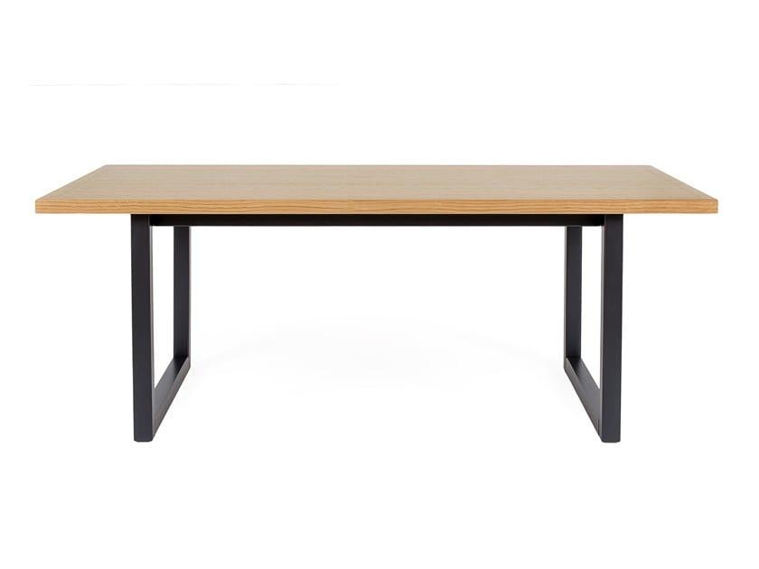Rectangular wood veneer coffee table CAMDEN | Rectangular coffee table by Woodman