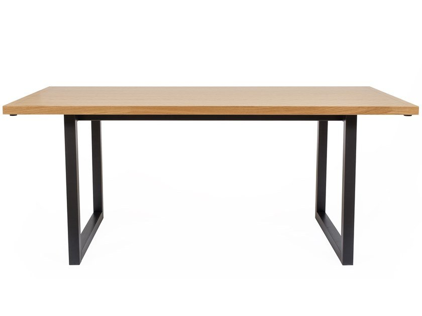Rectangular wood veneer table CAMDEN | Table by Woodman