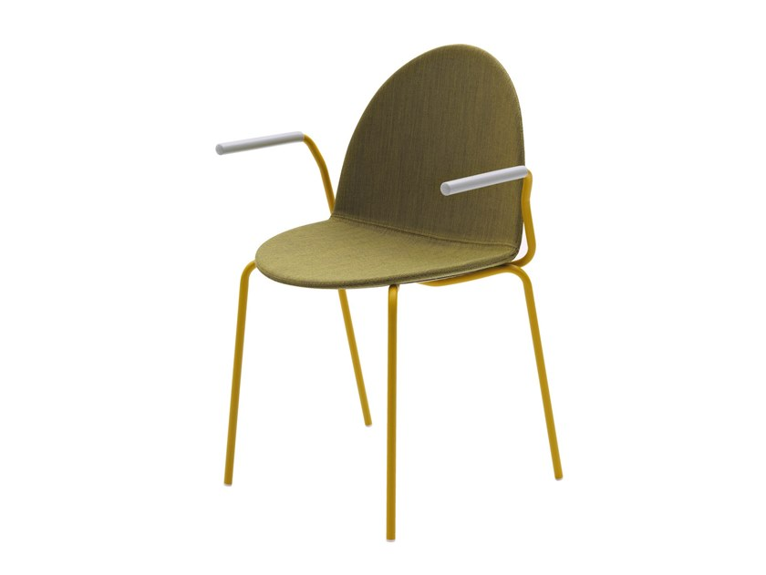 Fabric chair with armrests CAMEL | Upholstered chair by Segis