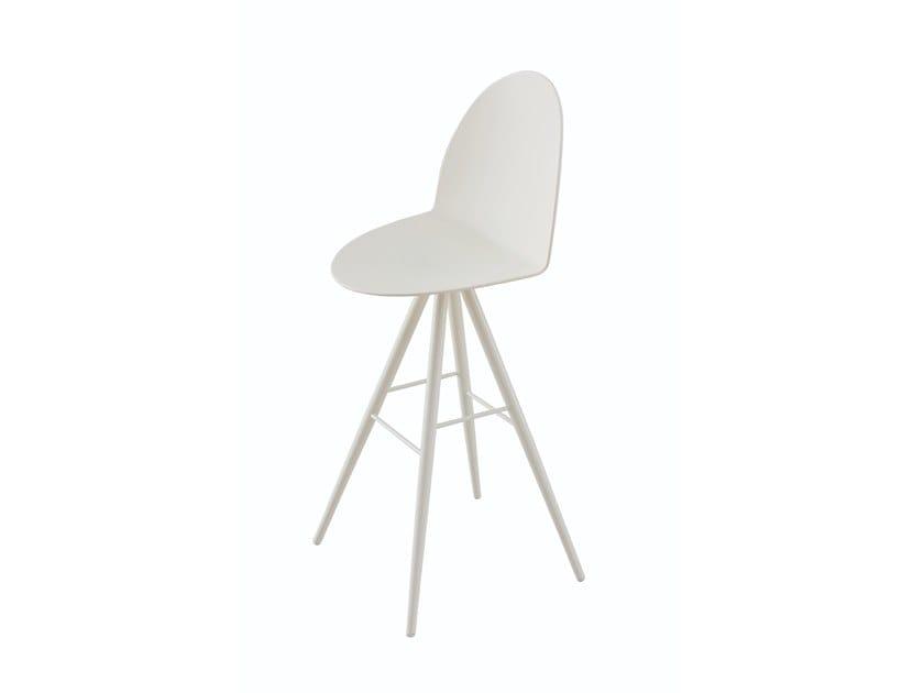 High trestle-based stool with footrest CAMEL | Trestle-based stool by Segis