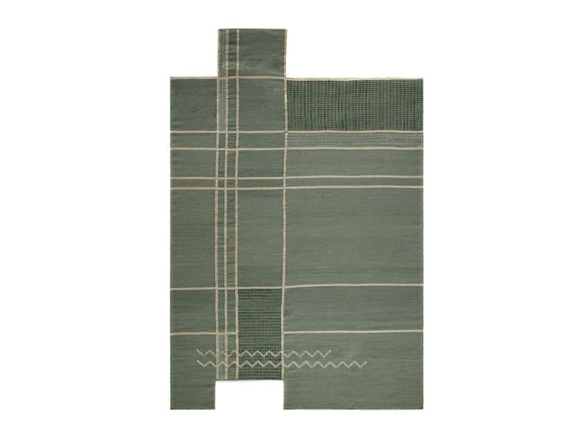 Handmade wool rug CAMINOS GREEN by Tacto