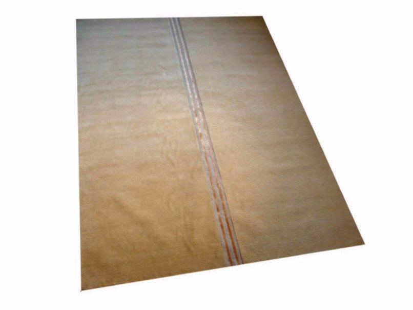 Handmade rectangular rug with geometric shapes CAMPO by Garbarino