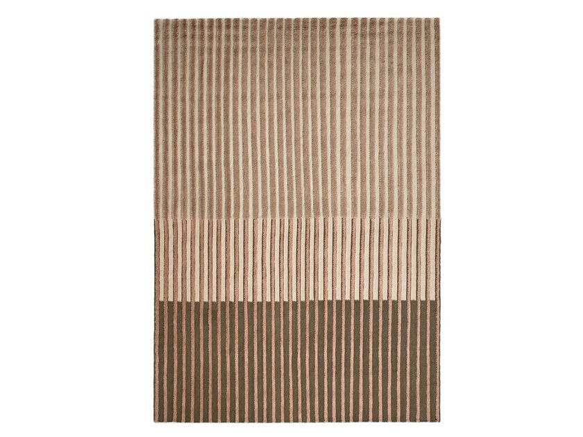 Striped handmade wool rug CAMPOS BLUSH by Tacto