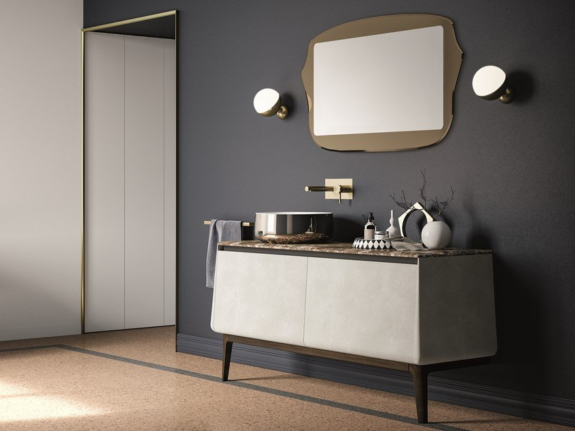 Lacquered vanity unit with doors CAMPUS COMP. 2 by Birex