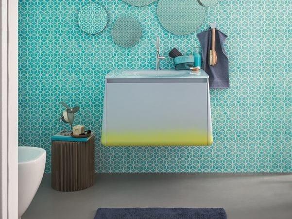 Lacquered single vanity unit CAMPUS | Vanity unit by Birex