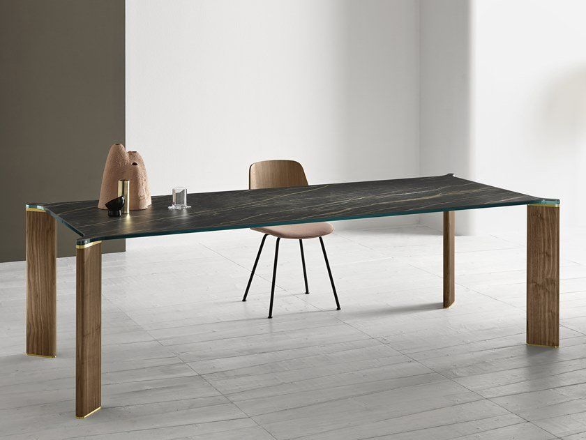 Rectangular ceramic dining table CAN CAN | Ceramic table by Tonelli Design